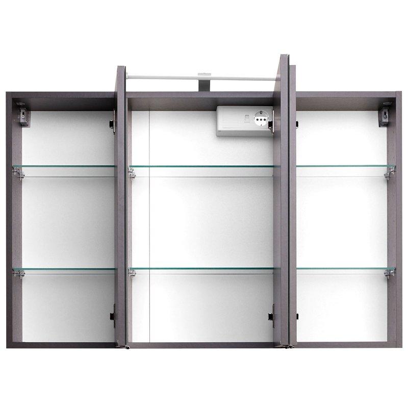 3d spiegelschrank graphit i 169 95 for 3d spiegelschrank