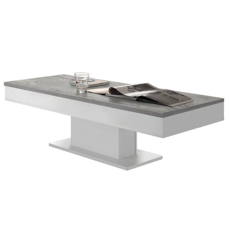 couchtisch cobbie ii wei matt beton 114 95. Black Bedroom Furniture Sets. Home Design Ideas
