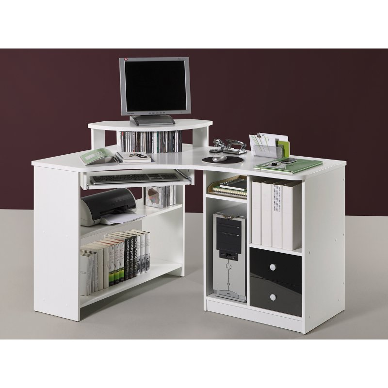 eck schreibtisch marcel i wei schwarz 159 95 eur. Black Bedroom Furniture Sets. Home Design Ideas