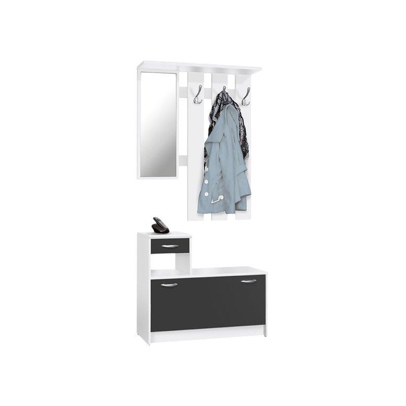 garderobe rolf i wei schwarz 82 95. Black Bedroom Furniture Sets. Home Design Ideas