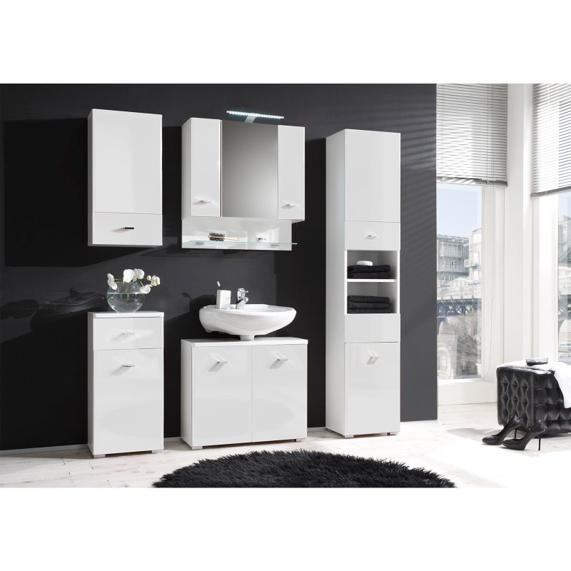 hochschrank barnsley i wei wei hochglanz. Black Bedroom Furniture Sets. Home Design Ideas