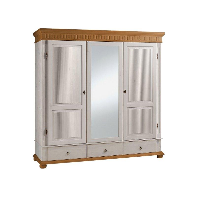 kleiderschrank silvana iv 199 cm wei antik 829 95. Black Bedroom Furniture Sets. Home Design Ideas