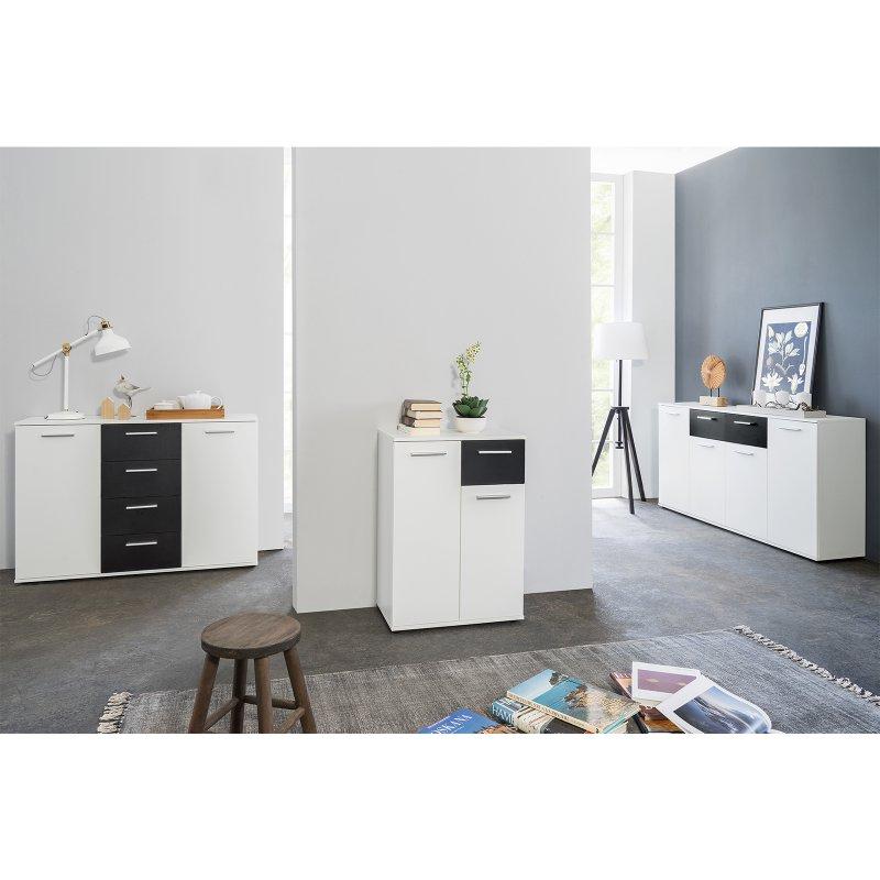 sideboard jacklin ii wei schwarz 99 95. Black Bedroom Furniture Sets. Home Design Ideas