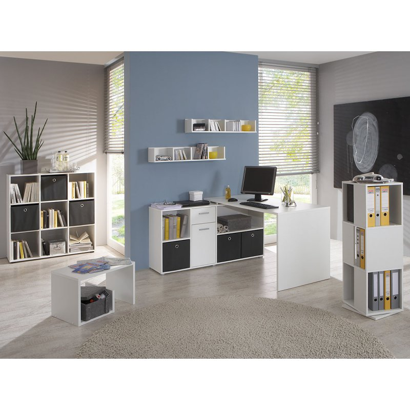 eckschreibtisch beppo wei 129 00. Black Bedroom Furniture Sets. Home Design Ideas
