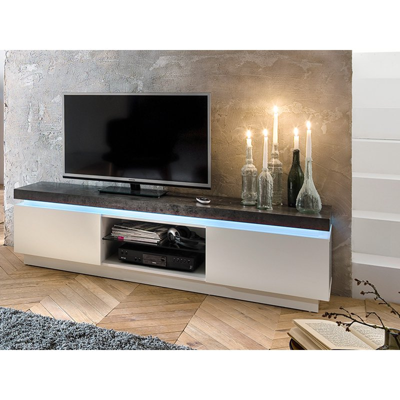 tv board lowboard atlanta in schwarz schwarz hochglanz smash. Black Bedroom Furniture Sets. Home Design Ideas