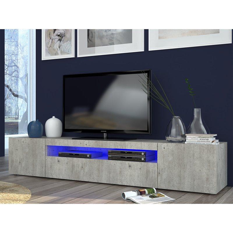 lowboard beton beautiful best stunning tv lowboard hifi board nussbaum sideboard kommode. Black Bedroom Furniture Sets. Home Design Ideas