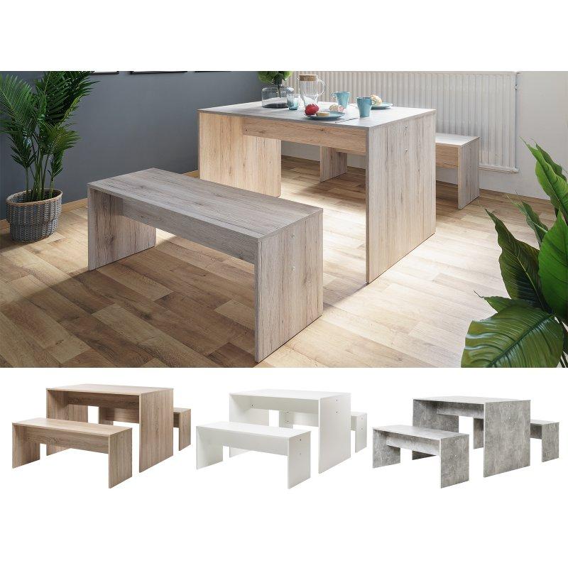 tischgruppe 3 teilig bellevue i 94 95. Black Bedroom Furniture Sets. Home Design Ideas