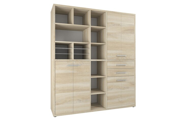 Highboard Set+ IV Eiche-Natur