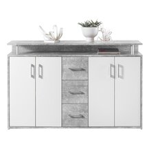 Highboard Delia I Beton/Weiß