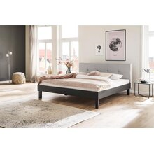 Metallbett Boston 180x200 cm grau-beige